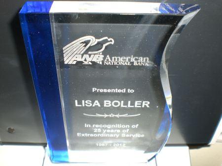 Lisa's 25th Anniversary Award