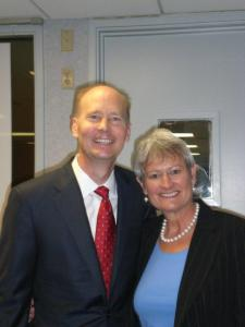 Brad Rex with Ginger Martin, President and CEO of ANB