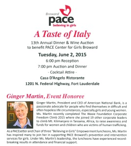 PACE Taste of Italy Invite