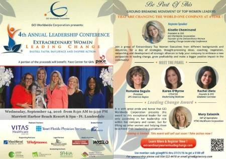 Extraordinary Women Leading Change - Informational Flyer 9.14.16
